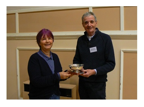 Barry Prater being presented with the Bob Saville award at the 2018 Autumn conference