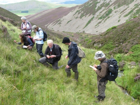 Recording at Juniper Crags on a TWIC outing