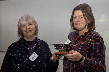 TWIC Chair, Sarah Eno presenting the Bob Saville Award to Sarah Adamson (ENHS President) at the autumn conference.